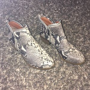 Lucky brand Snakeskin boots 🐍